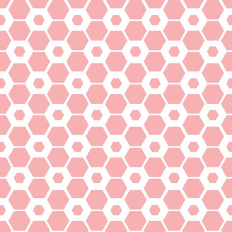 Hexagon Lace fabric by haleeholland on Spoonflower - custom fabric