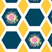 Hexagon Diamond Floral