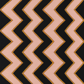 Black and Tan Angled Stripe