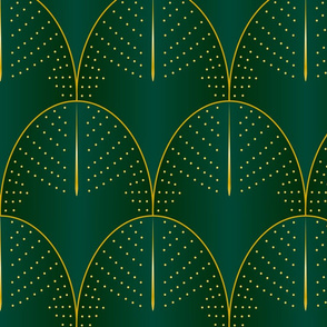 Emerald art deco diatoms