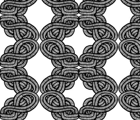 Woven Knots fabric by docious_designs_by_patricia_braune on Spoonflower - custom fabric