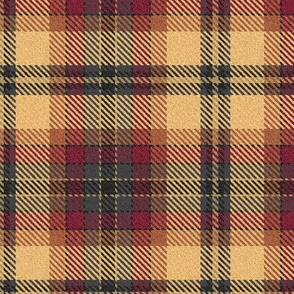 Fuzzy Look Beige Burgundy and Charcoal Plaid
