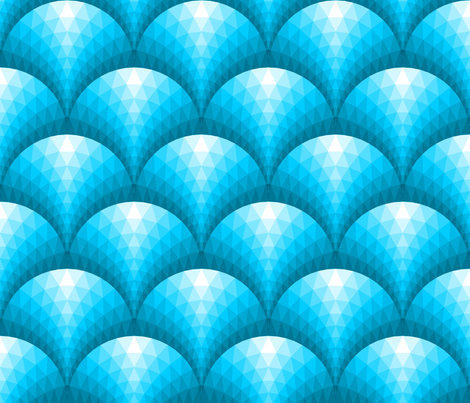 08253389 : faceted scales : turquoise blue fabric by sef on Spoonflower - custom fabric