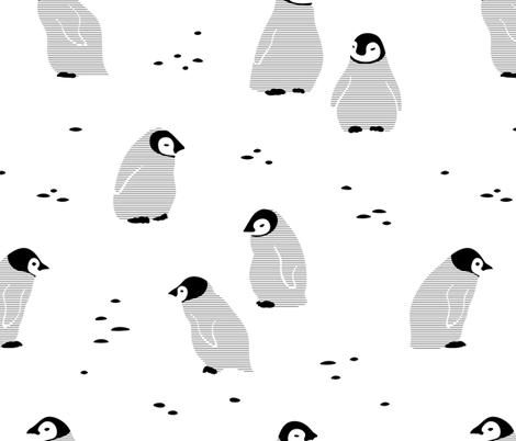 Black and white Penguins  fabric by noristudio on Spoonflower - custom fabric
