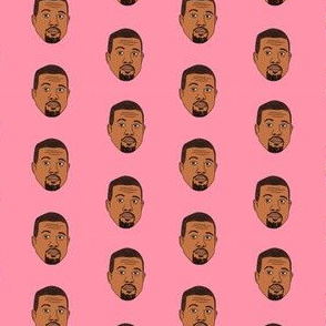 kanye west fabric, kanye, musician, music, rap, celebrity, faces, people, face fabric - pink