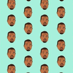 kanye west fabric, kanye, musician, music, rap, celebrity, faces, people, face fabric - mint