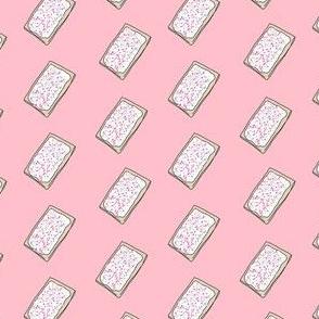 pop tart - strawberry sprinkles, food fabric, junk food fabric, sprinkles fabric, strawberry frosted - pink