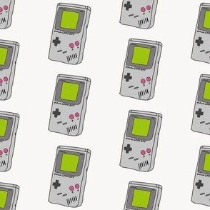 gameboy fabric - 90s throwback fabric, retro gaming system,  90s kids fabric, -cream