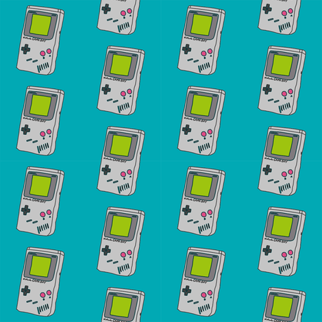 gameboy fabric - 90s throwback fabric, retro gaming system, 90s kids