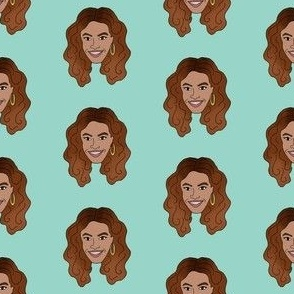 beyonce fabric - bey fabric, musician, artist, woman, feminist fabric - mint