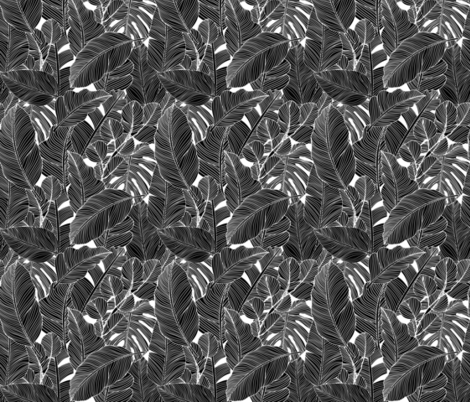 Paraiso - black fabric by melissalowry on Spoonflower - custom fabric