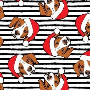 Christmas Brittanys - black stripes