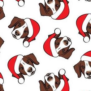 Christmas Brittanys (liver) - white