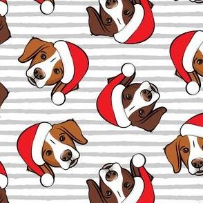 Christmas Brittanys (liver & orange) - grey stripes