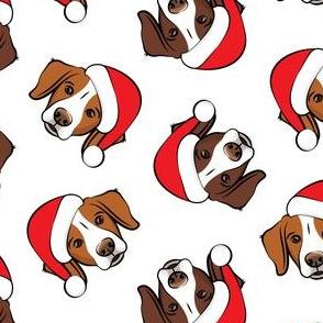 Christmas Brittanys (liver & orange) - white