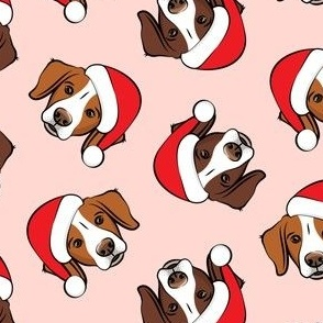 Christmas Brittanys (liver & orange) - pink