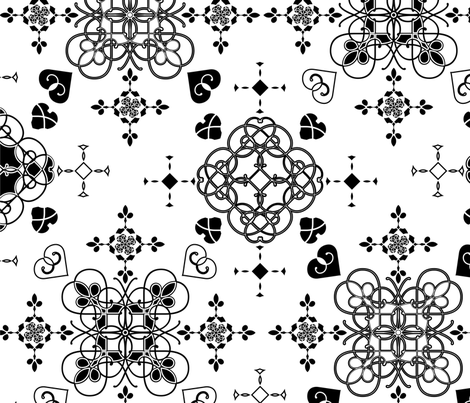 spoonflower-blackandwhite-swatch fabric by little_laughing_studio on Spoonflower - custom fabric