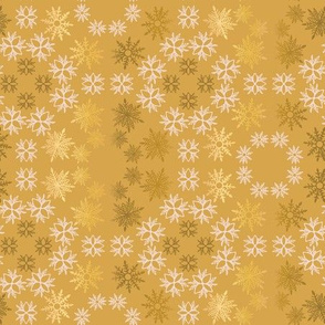 pink gold antique snowflakes