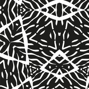 Fluid Kaleidoscope - Black