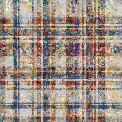 Quiet Colors: Giant Spattered Plaid
