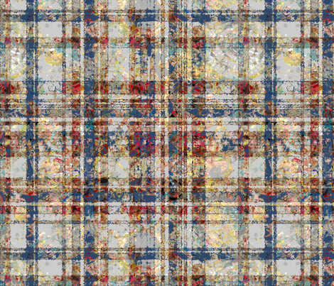 Quiet Colors: Giant Spattered Plaid fabric by tallulahdahling on Spoonflower - custom fabric