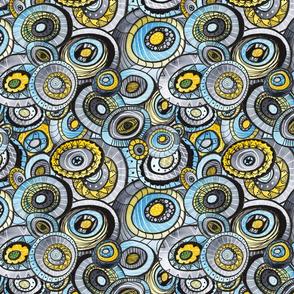 zencircles I - watercolor doodle