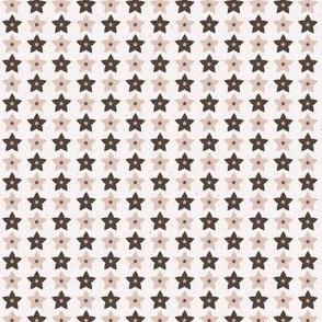 Winter Rustic Stars Lino Cut