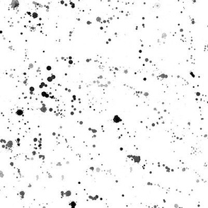 Black paint splatters || watercolor black and white pattern