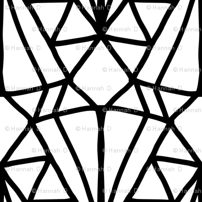 Art Deco Stained Glass Black And White