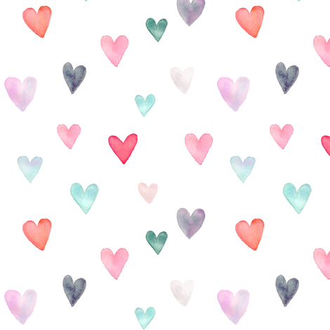 IBD Heart attack 5x5 fabric by indybloomdesign on Spoonflower - custom fabric