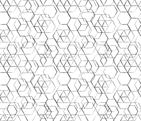 black and white  fabric by inotra on Spoonflower - custom fabric
