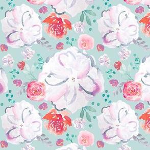 IBD Sweetheart Florals Glacier 5x5