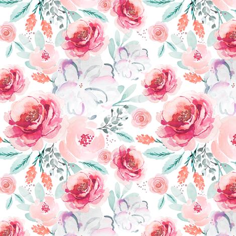 IBD Valentine valarie 5x5 fabric by indybloomdesign on Spoonflower - custom fabric