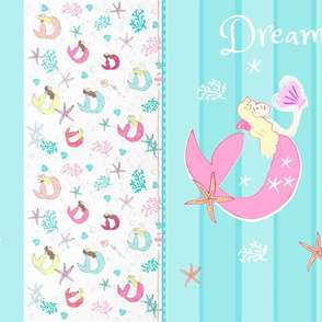 YARD 42 mermaid dream pink princess quilt - wholecloth