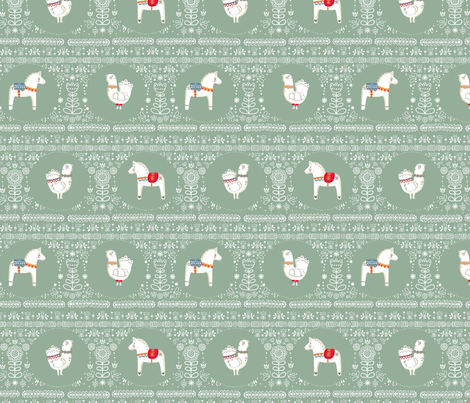 Scandi Friends fabric by lillelor on Spoonflower - custom fabric