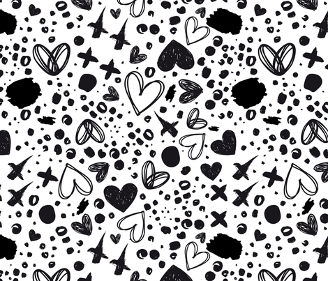 Corazones fabric by valmo on Spoonflower - custom fabric