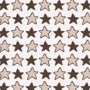 Winter Rustic Stars Lino Cut Sketchy
