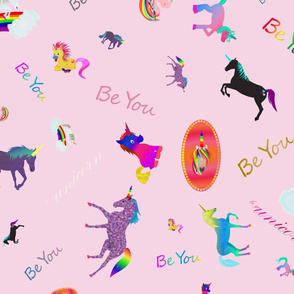 Be YOUnicorn pink