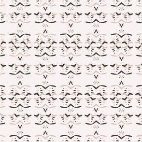 Abstract Stripes Folk Art Texture Winter White Boho