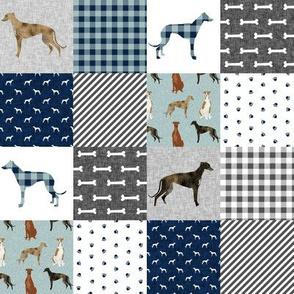 SMALL - greyhound pet quilt b cheater quilt nursery dog quilt