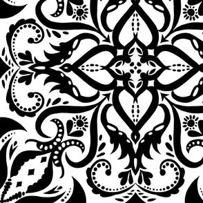 Large Format Black and White Mandalas