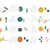 Scandi flowers calendar 2020