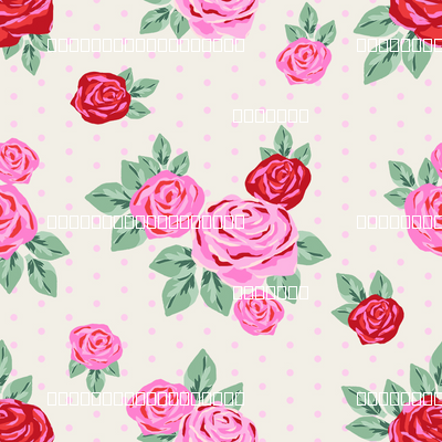 """SMALL  - 2.5"""" valentines rose floral pattern fabric - valentines day fabric, valentines fabric, roses fabric, pink rose, red rose - cream"""