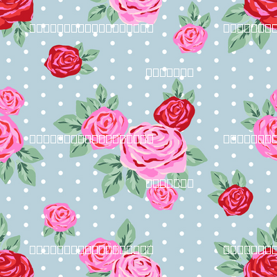 "SMALL  - 2.5"" valentines rose floral pattern fabric - valentines day fabric, valentines fabric, roses fabric, pink rose, red rose - dusty blue"