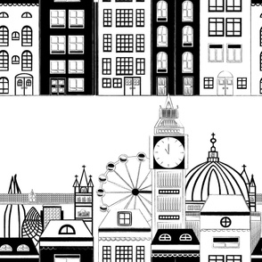 Black and White London Skyline