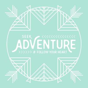 """Seek Adventure Lovey- Aqua Teal 18"""" Lovey"""