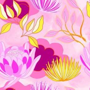 vintage protea purples