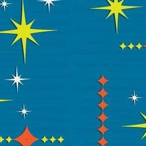 Retro Blue Stars
