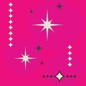 Retro Fuchsia Stars