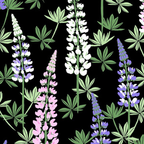 Lupine Fields black extra large